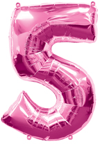 Pink Number Five Balloon