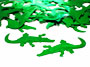 Alligator Confetti, Green Metallic Alligators