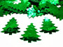 Christmas Tree Confetti, Metallic Green