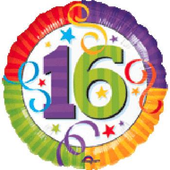 Happy 16th Birthday 16th Birthday Balloon