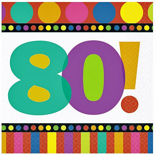 80th birthday napkins 80th party supplies with dots and for 80th birthday decoration