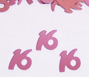 Pink 16th Birthday Confetti