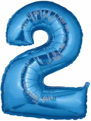number 2 balloon  large blue number 2 balloon