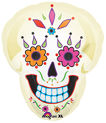 day of dead skull designs. Day of the Dead Skull Balloon