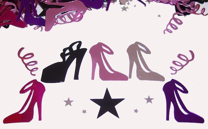 images of girls night out. Girls Night Out High Heel Shoe Confetti