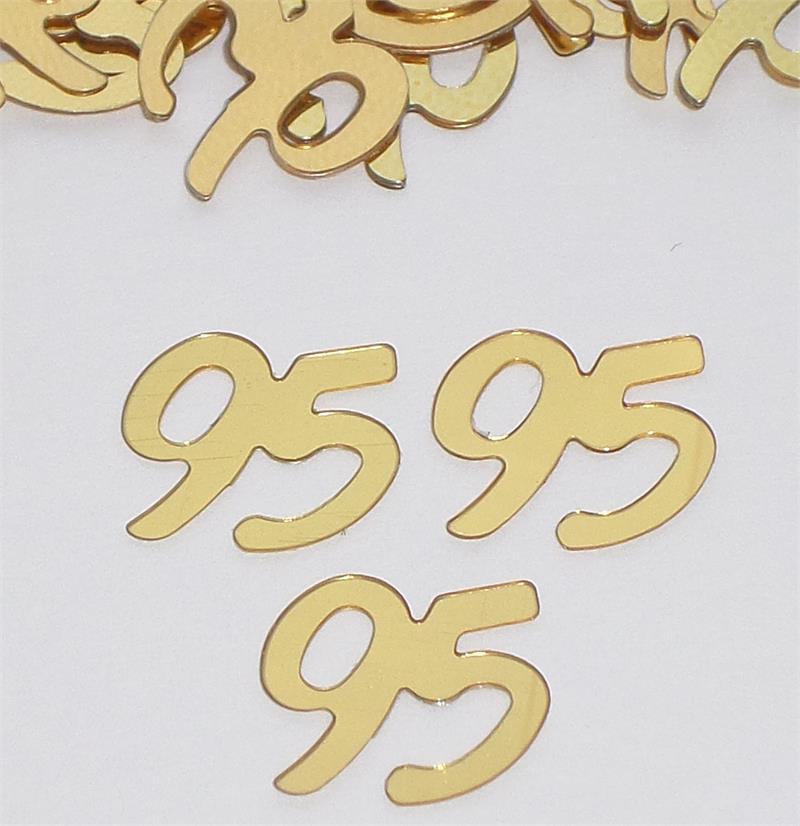Diagram Gold Number 95 Confetti