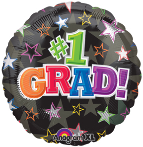 1 Grad Balloon, Bright Star Themed Graduation Balloon