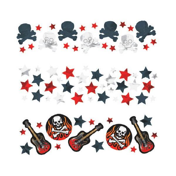 Rock Confetti, Heavy Metal Confetti, Rock Guitars Flames Skulls