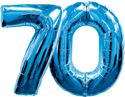Large Blue Number 70 Balloon Large Blue Mylar Number Balloons