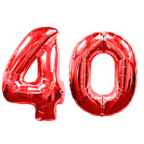 Red Number 40 Balloons