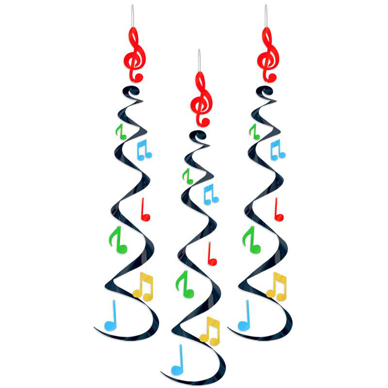 Music: Music Note Danglers, Metallic Red Clef Note With Dangling