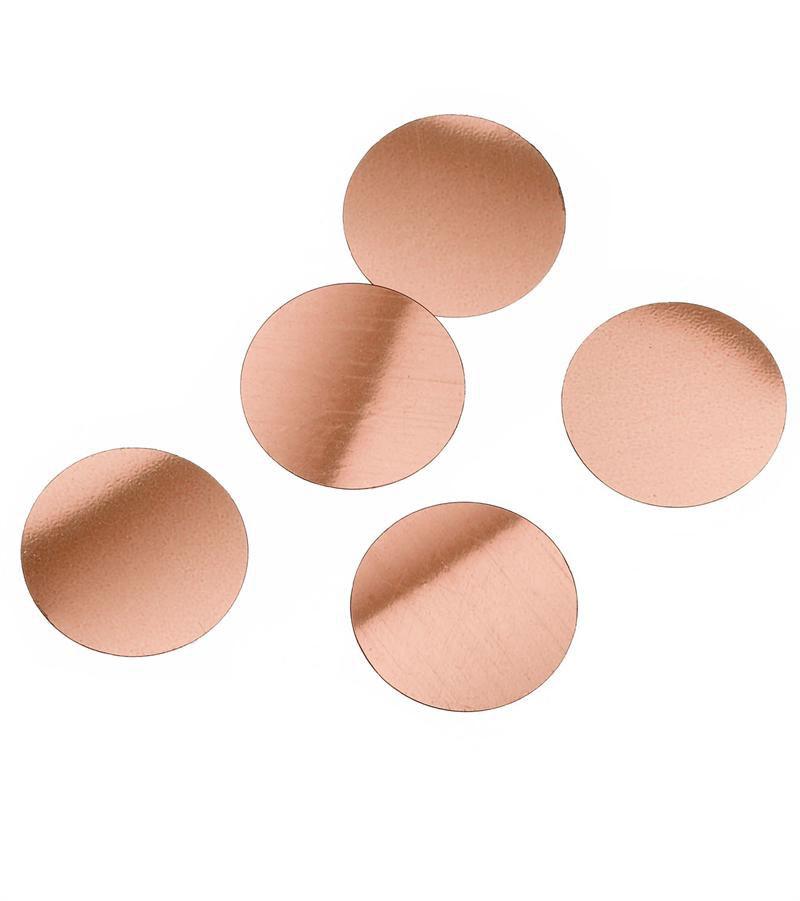 rose gold round confetti