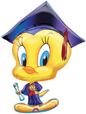 Tweety Bird Graduation Balloon