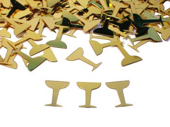 Champagne Confetti, Traditional Gold Champagne Confetti