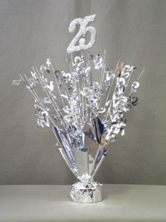 25th Anniversary Centerpieces Silver 25th Centerpieces With Base