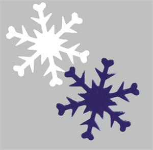 Snowflake Confetti, Blue and White Snowflakes