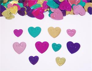 Mullti Colored Metallic Heart Confetti