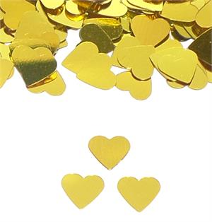 Gold Heart Shaped Confetti