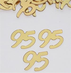 Gold Number 95 Confetti