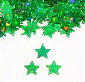 Prismatic Green Star Shaped Confetti