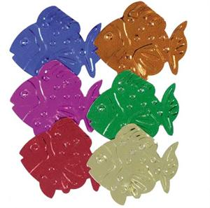 Jumbo Fish Confetti, Metallic and Embossed