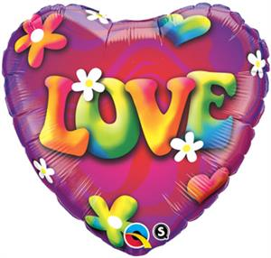 Flower Power Love Balloon