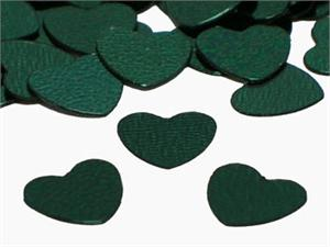 Metallic Hunter Green Heart Shaped Confetti