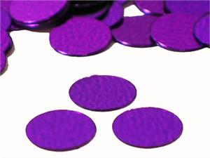 Metallic Purple Round Confetti