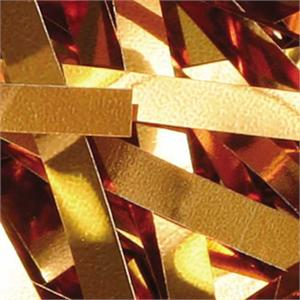 Metallic Orange ribbon confetti Bulk