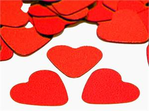 "Red Heart Confetti Shiny Metallic (1/2"")"