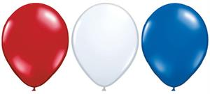 Biodegradeable Red White and Blue Balloons