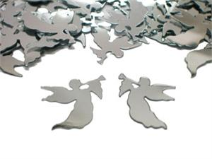 Silver Angel Shaped Confetti