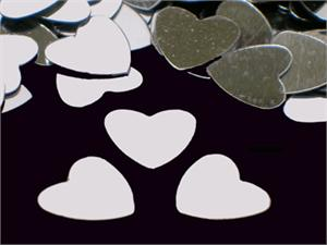 "Silver Heart Shaped Confetti (1/4"")"