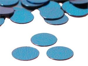 Sky Blue Round Confetti Shiny Metallic Small
