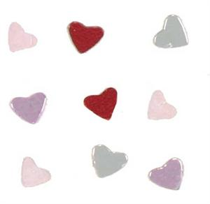 "Tiny 1/8"" heart confetti"