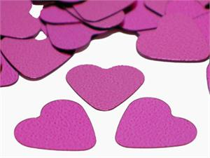 Rose Pink Heart Confetti•