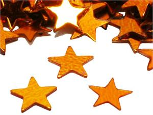 "Orange Star Confetti, Metallic Confetti 1/4"" diameter"
