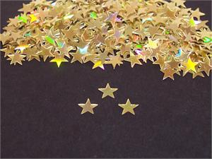 Gold Star Confetti, Prismatic .5 inch
