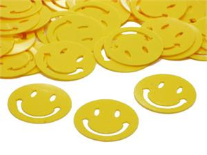 Yellow Smiley Face Confetti