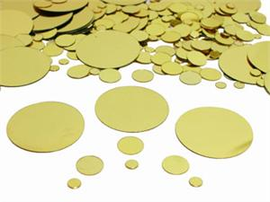 Gold Round Confetti, Assorted Sizes