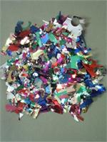 One pound bags of multi colored metallic confetti