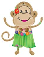 Luau Monkey Balloon, Girl