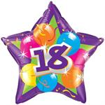 18th Birthday Balloon, Star Shaped
