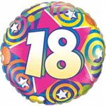 18th Birthday Balloon, Swirl Design 18