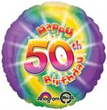 50th Birthday Balloon Tie Dye