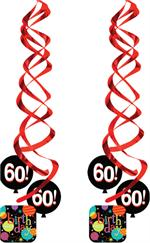 60th Birthday Hanging Decoration, 60th Birthday Danglers