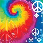 Tie Dye Peace Sign Cocktail Napkins