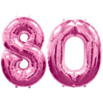 Pink Number 80 Balloon, 34