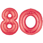 Red Number 80 Balloon, 40