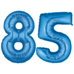 Blue Number 85 Balloon, 40